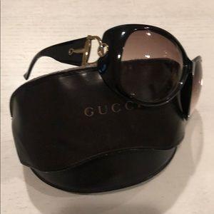 Gucci oversized horsebit sunglasses black